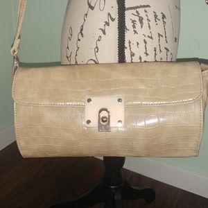 Handbags - VERY NICE TAN CROC CROSS BODY SATCHEL HANDBAG